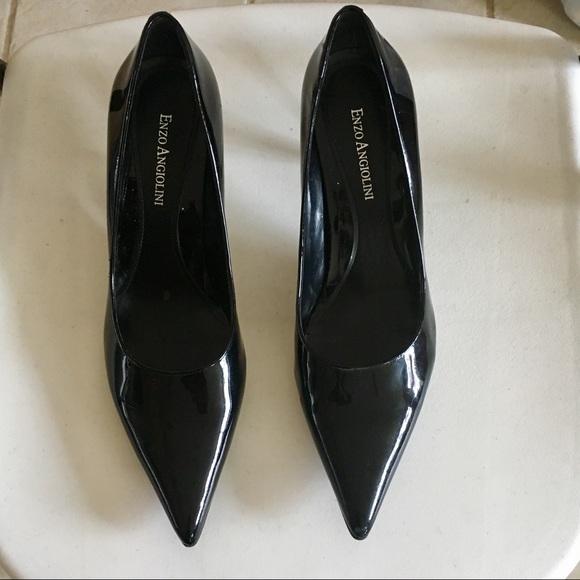 3de21610fc6 Enzo Angiolini Black Patent Leather Heels-Like New